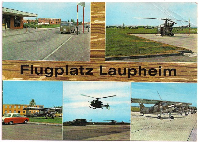 Flugplatz Laupheim (Vorderseite der Ansichtskarte)