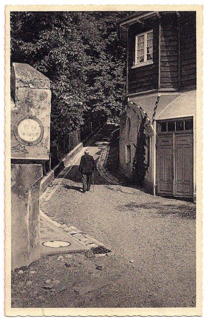 Kirchenweg (Vorderseite der Ansichtskarte)