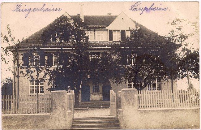 Kriegerheim Laupheim (Vorderseite der Ansichtskarte)