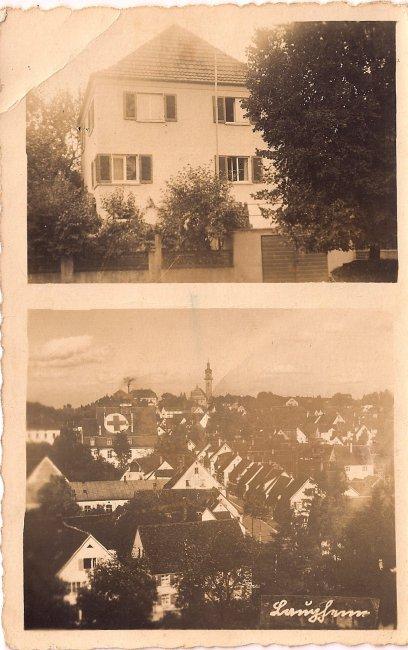 Laupheim – Haus Weber (Vorderseite der Ansichtskarte)