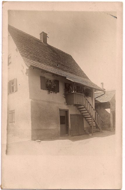 Haus Schuhmacher Gut (Vorderseite der Ansichtskarte)
