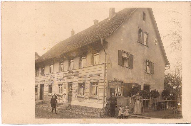 Gärtnerei Franz Staub (Vorderseite der Ansichtskarte)