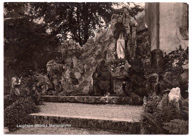 Lourdesgrotte (Vorderseite der Ansichtskarte)