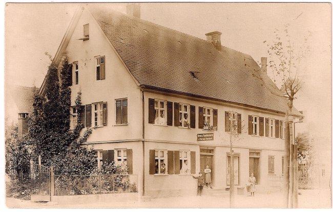 Bäckerei Burkert (Vorderseite der Ansichtskarte)