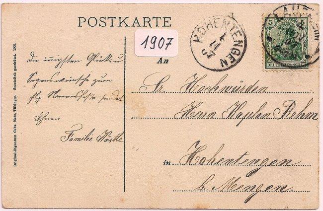 Kapellenstraße (Rückseite der Ansichtskarte)