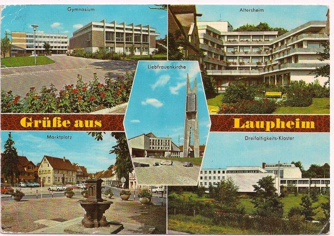 Grüße aus Laupheim (Vorderseite der Ansichtskarte)