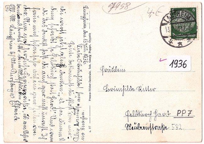 Kath. Stadtpfarrkirche, Laupheim (Rückseite der Ansichtskarte)
