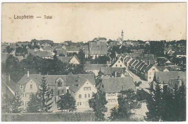 Laupheim - Total (Vorderseite der Ansichtskarte)