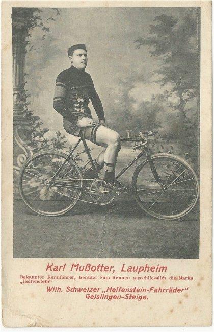 Karl Mußotter, Laupheim (Vorderseite der Ansichtskarte)