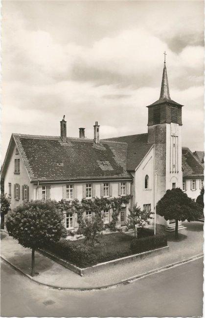 Laupheim - Evangelische Kirche (Vorderseite der Ansichtskarte)
