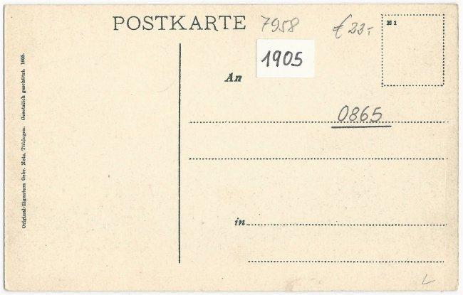 Partie aus Laupheim (Rückseite der Ansichtskarte)