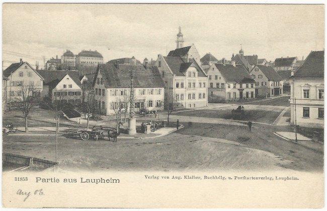 Partie aus Laupheim (Vorderseite der Ansichtskarte)
