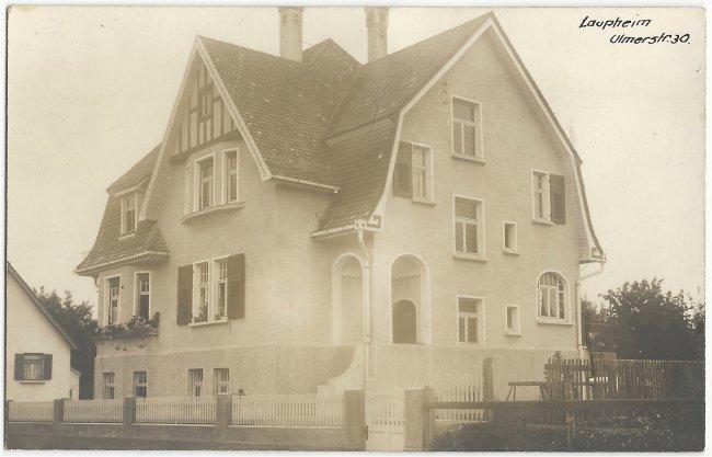 Laupheim Ulmerstr. 30 (Vorderseite der Ansichtskarte)