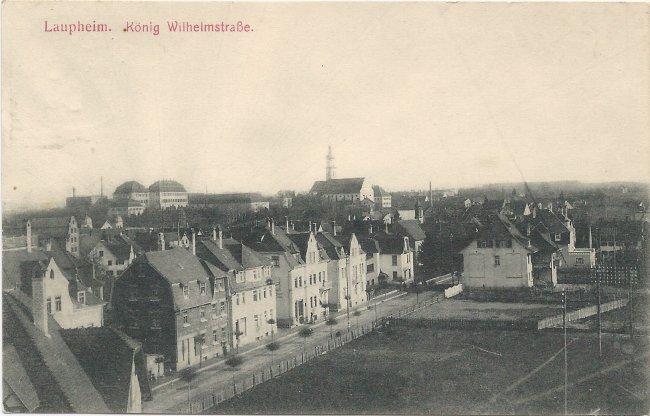 Laupheim. König Wilhelmstraße (Vorderseite der Ansichtskarte)