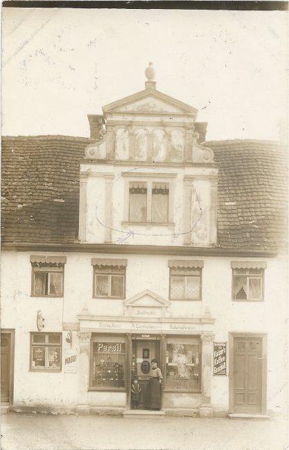 Haus Gerstenlauer, Mittelstraße 25 (Vorderseite der Ansichtskarte)