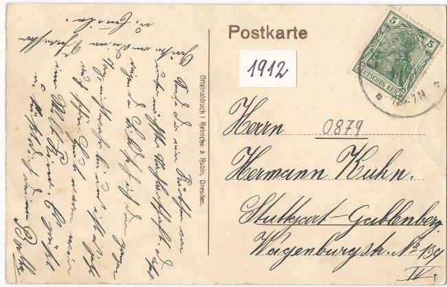 Oberamt Laupheim (Rückseite der Ansichtskarte)