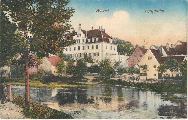 Oberamt Laupheim (Vorderseite der Ansichtskarte)
