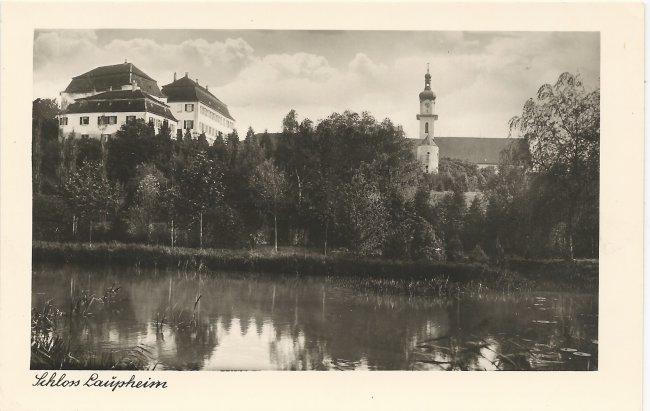 Schloss Laupheim (Vorderseite der Ansichtskarte)