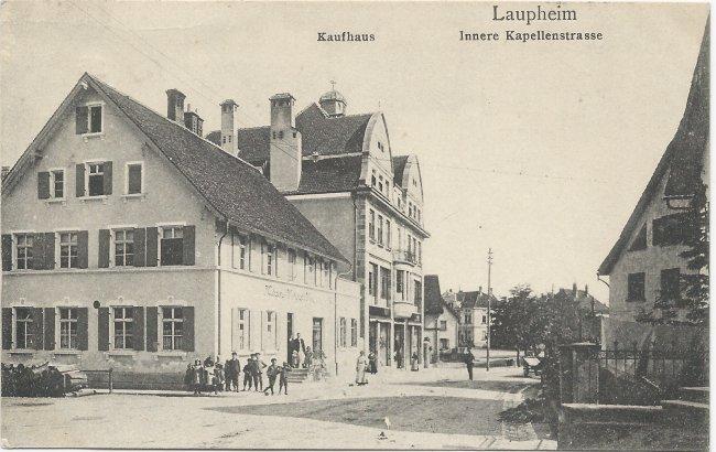 Laupheim Innere Kapellenstrasse (Vorderseite der Ansichtskarte)