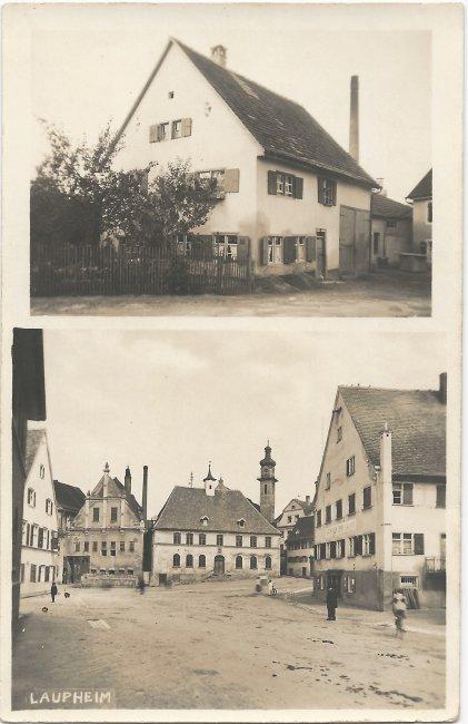 Haus Kollmayer / Scheller (Vorderseite der Ansichtskarte)