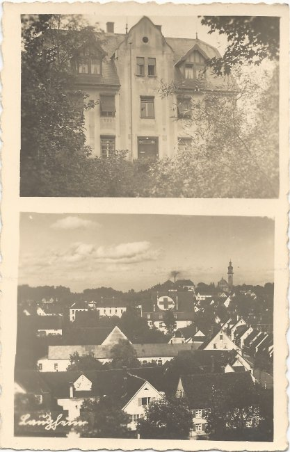 Laupheim - Unbekanntes Wohnhaus (Vorderseite der Ansichtskarte)
