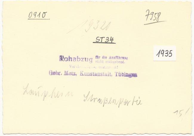Kapellenstrasse / Ulmer Straße 1935 (Rückseite der Ansichtskarte)