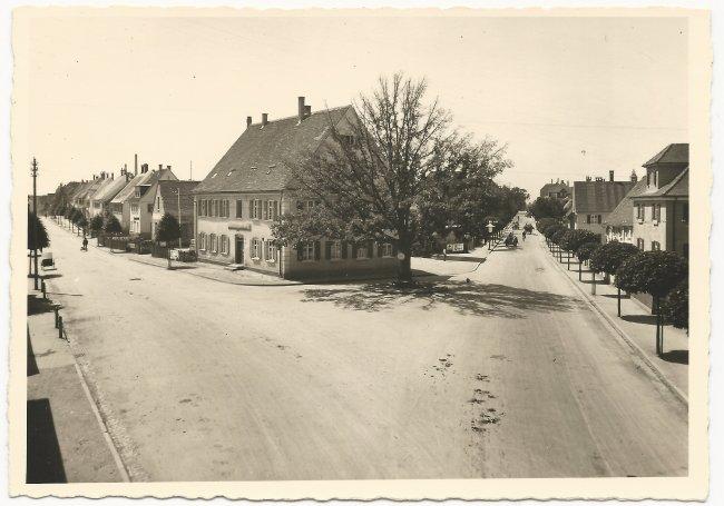 Kapellenstrasse / Ulmer Straße 1935 (Vorderseite der Ansichtskarte)