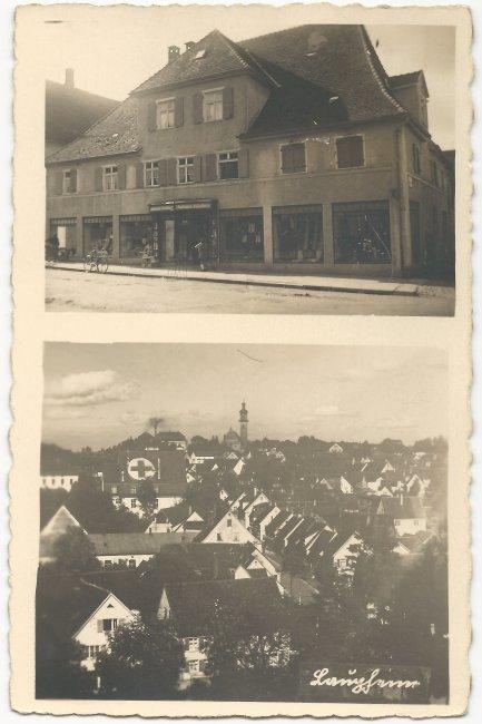 Modehaus Johann Klaiber (Vorderseite der Ansichtskarte)