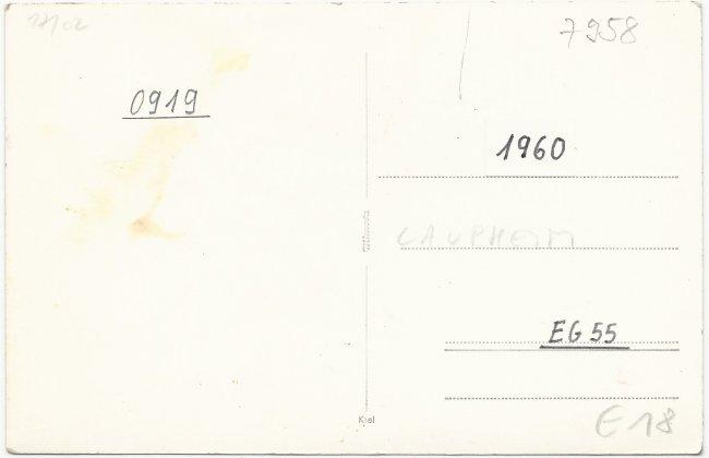 Fischbach und Miller (Rückseite der Ansichtskarte)