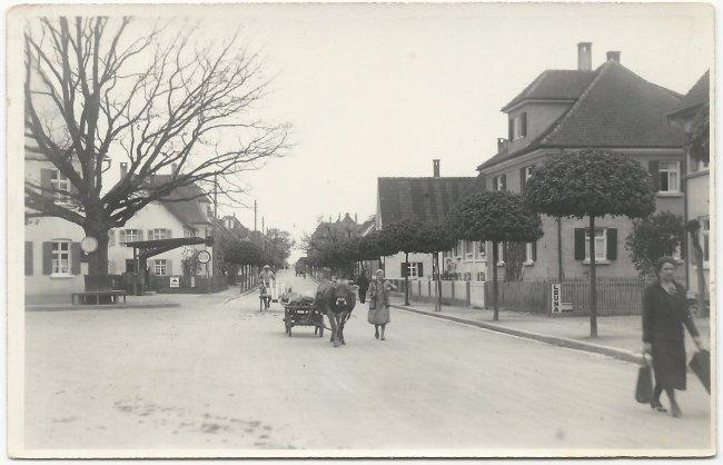 Ulmer Straße / Einmündung Kapellenstraße (Vorderseite der Ansichtskarte)