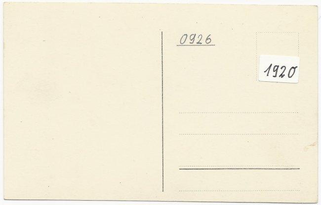 Laupheim. Postamt (Rückseite der Ansichtskarte)