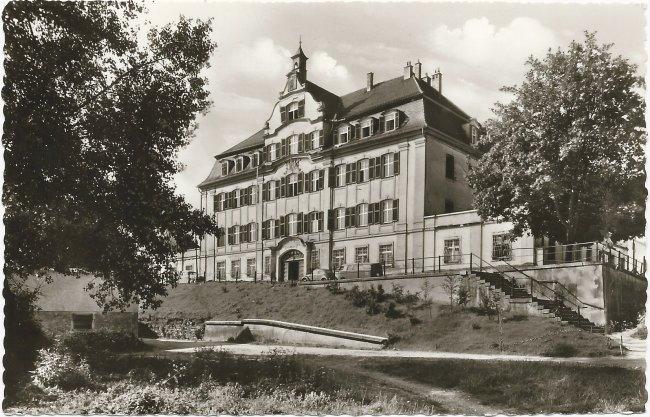Laupheim / Württ. Schloß Kleinlaupheim (Amtsgerich) (Vorderseite der Ansichtskarte)