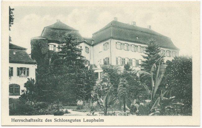 Herrschaftssitz des Schlossgutes Laupheim (Vorderseite der Ansichtskarte)