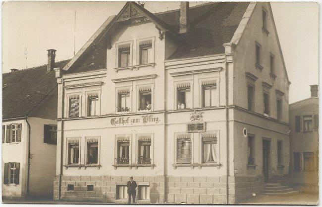 Gasthaus zum Pflug (Vorderseite der Ansichtskarte)