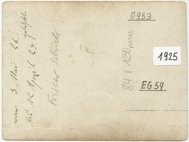 Frisörsalon Schick (Rückseite der Ansichtskarte)