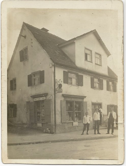 Frisörsalon Schick (Vorderseite der Ansichtskarte)