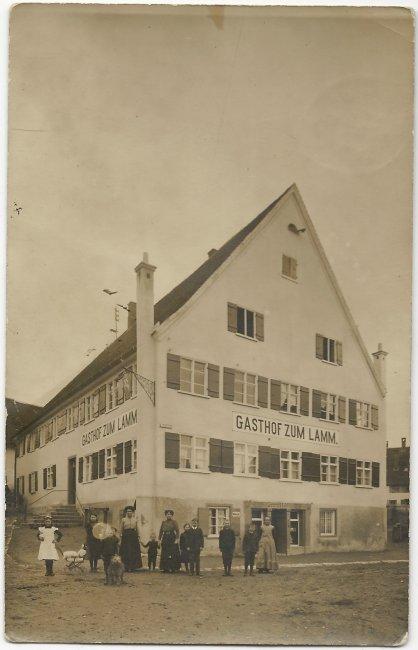 Gasthof zum Lamm (Vorderseite der Ansichtskarte)