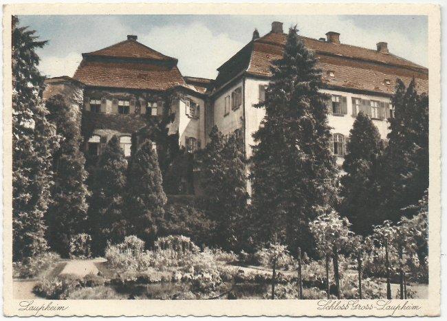 Laupheim Schloss Gross-Laupheim (Vorderseite der Ansichtskarte)