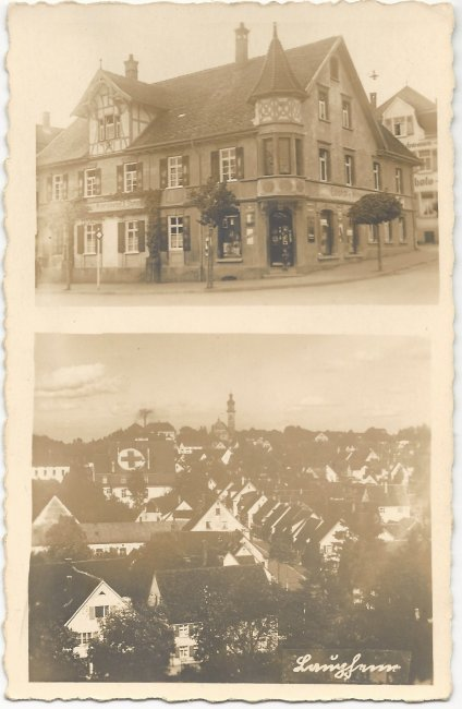 Laupheim / Colonial- u. Materialwaren F. X. Stumpp (Vorderseite der Ansichtskarte)