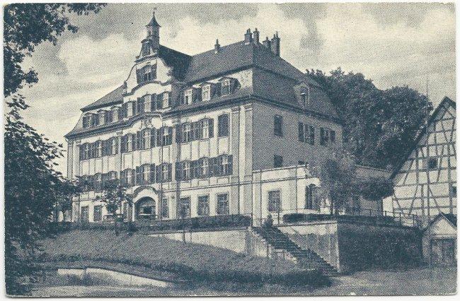 Laupheim Schloss Klein-Laupheim (Vorderseite der Ansichtskarte)
