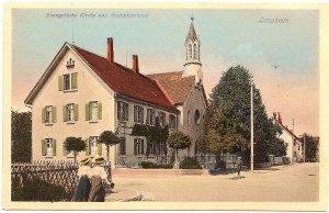 Laupheim Evangelische Kirche und Stadtpfarrhaus