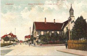 Laupheim König Wilhelmstrasse u. evang. Kirche