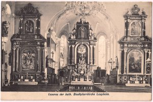 Inneres der kath. Stadtpfarrkirche Laupheim