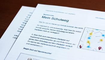Arbeitsblatt »Mein Schulweg«