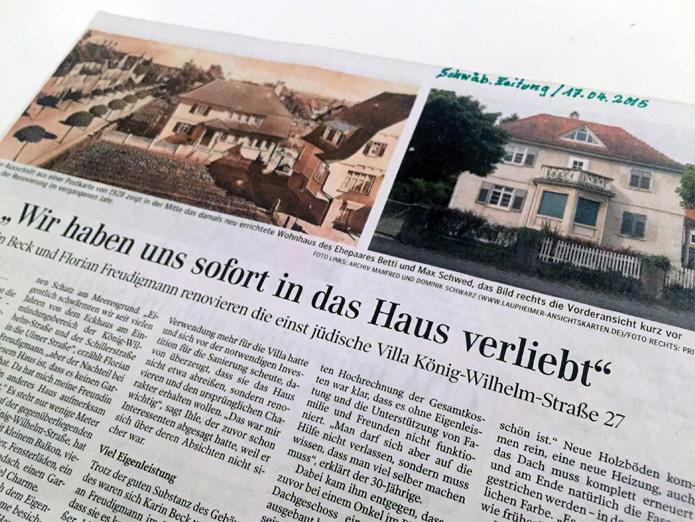 Schwäbische Zeitung, 17.04.2015