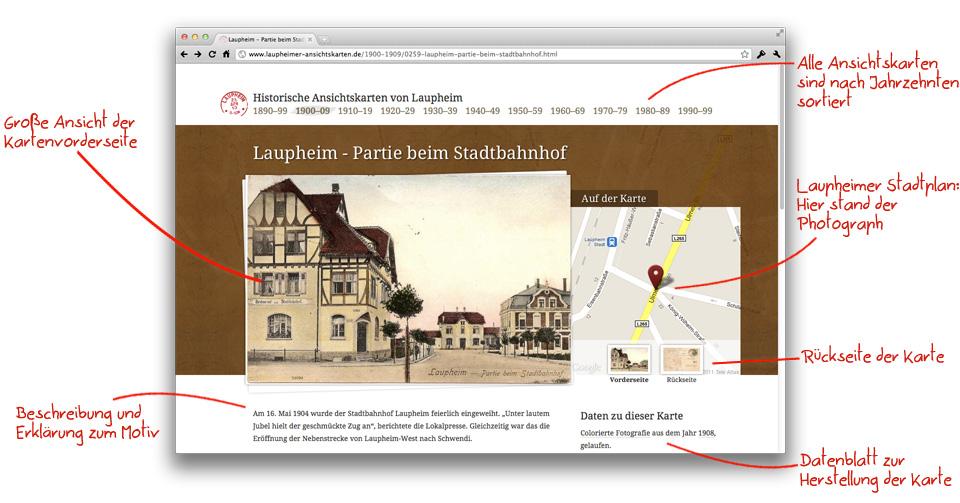 Laupheimer Ansichtskarten Webseite