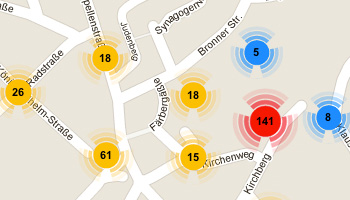 Laupheimer Stadtplan mit allen Ansichtskarten